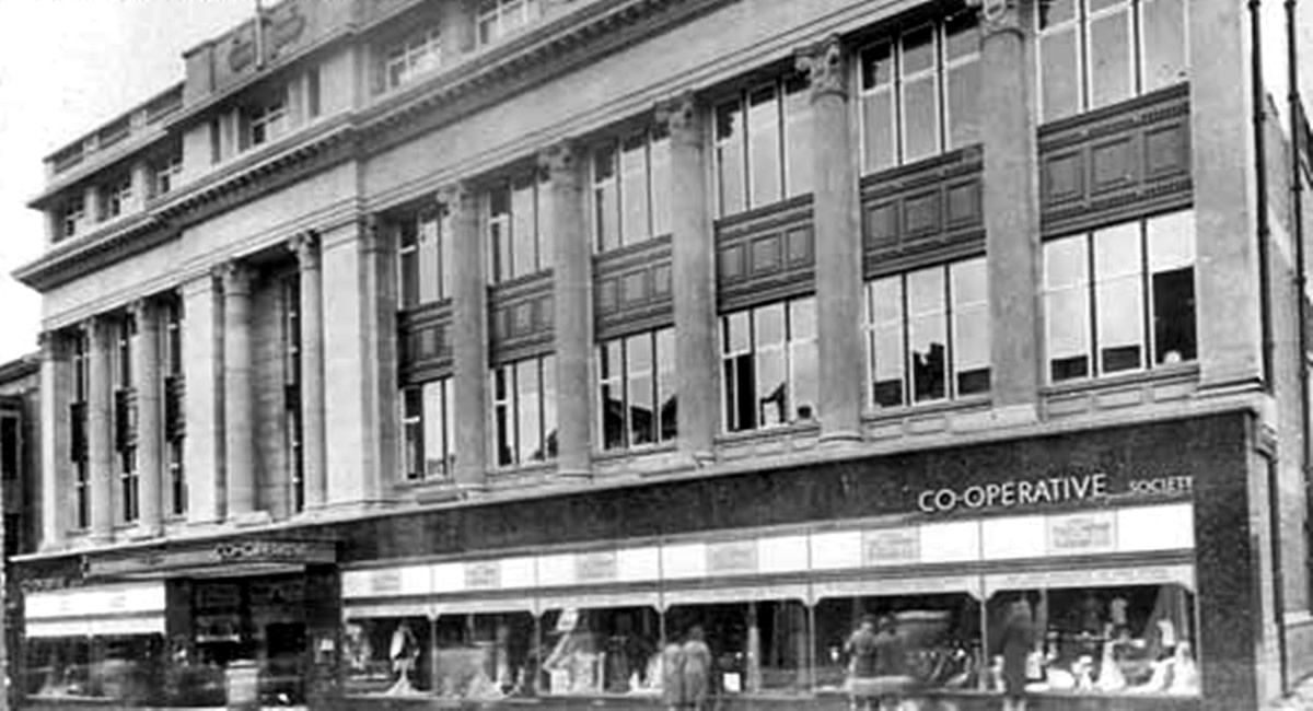 The old Co-op retail store - now sadly gone - where grandma used to take me shopping as a child.