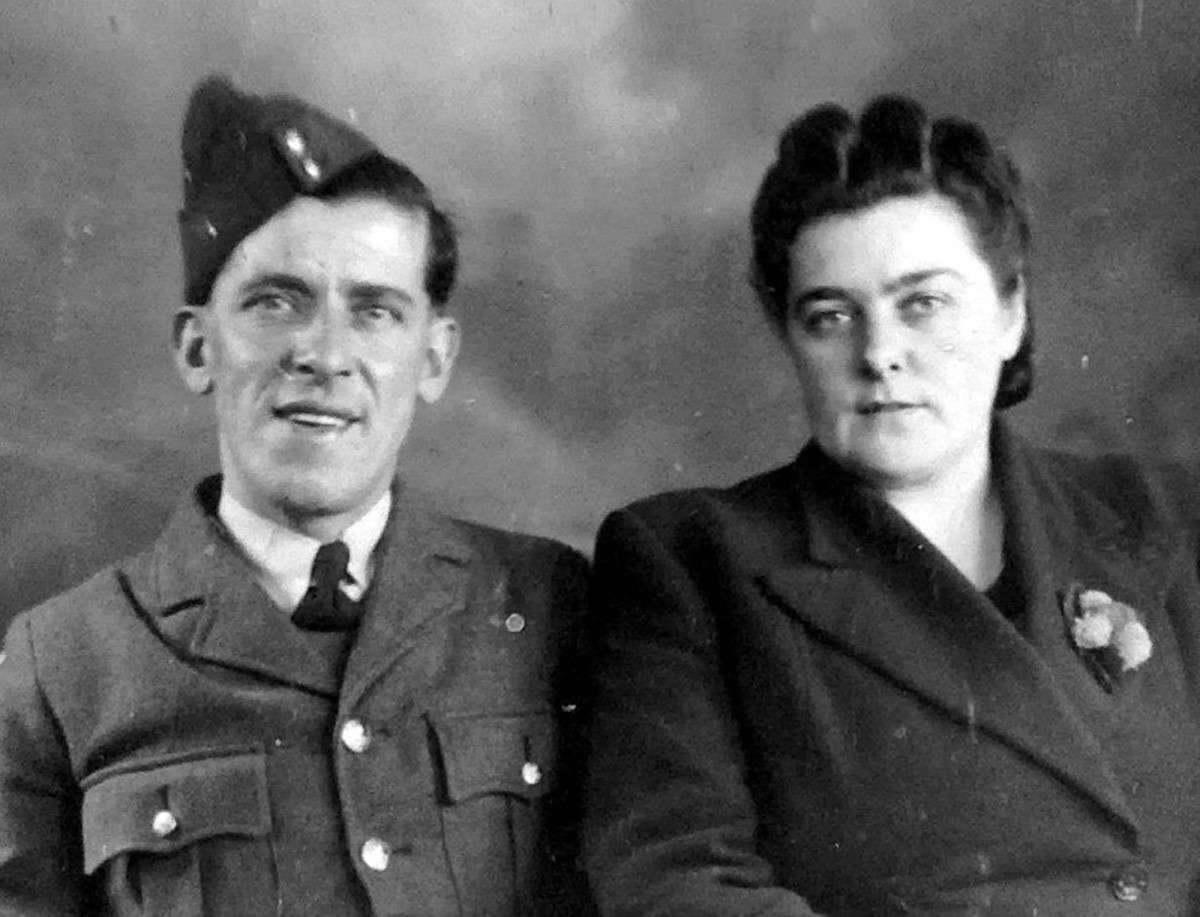 Grandma and grandad, Ivy and Frank Trigg, during the Second World War.