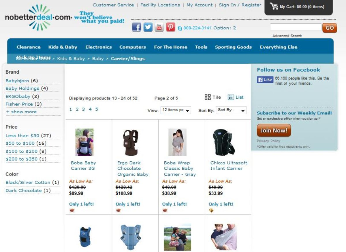 Clearance Baby Carriers
