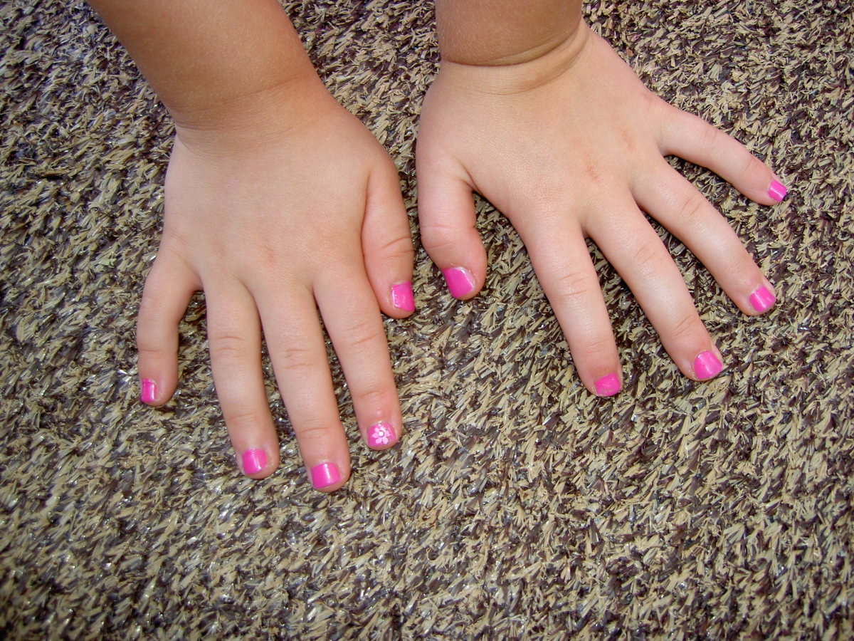Painting nails can help stop biting.