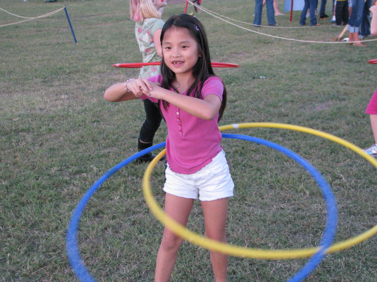Hula Hoops are great for exercising!