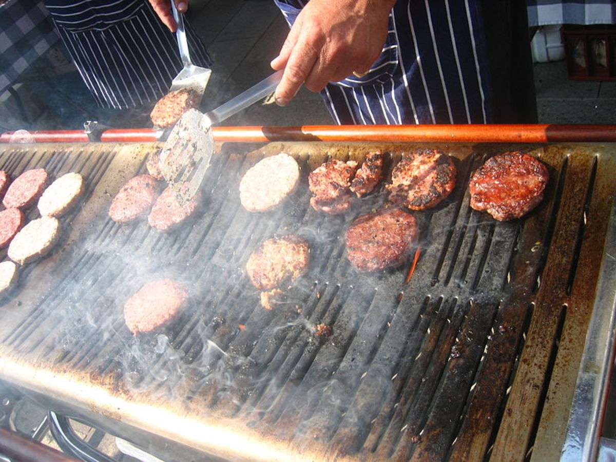 http://commons.wikimedia.org/wiki/File:Flipping_burgers_(1347515766).jpg