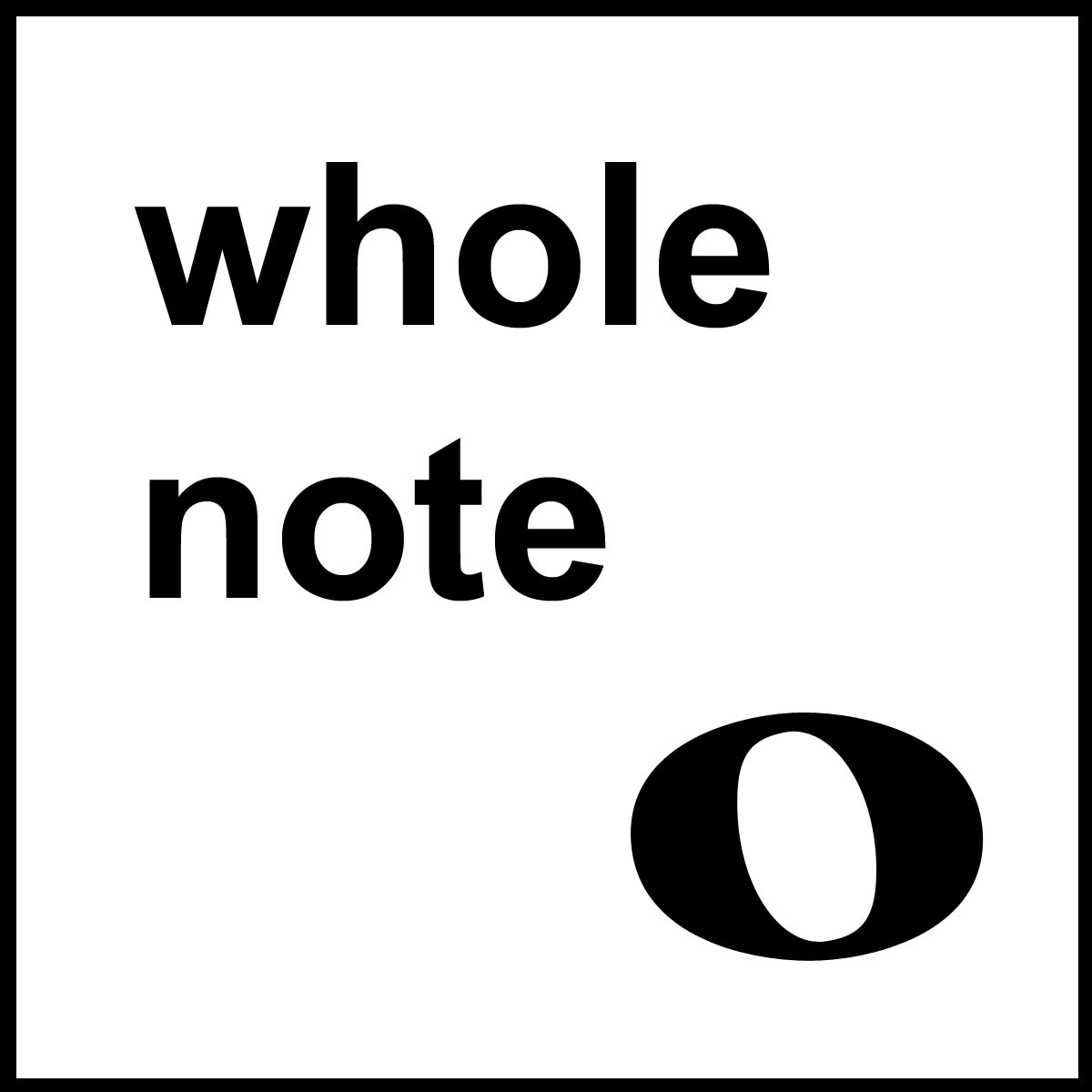 A Whole Note