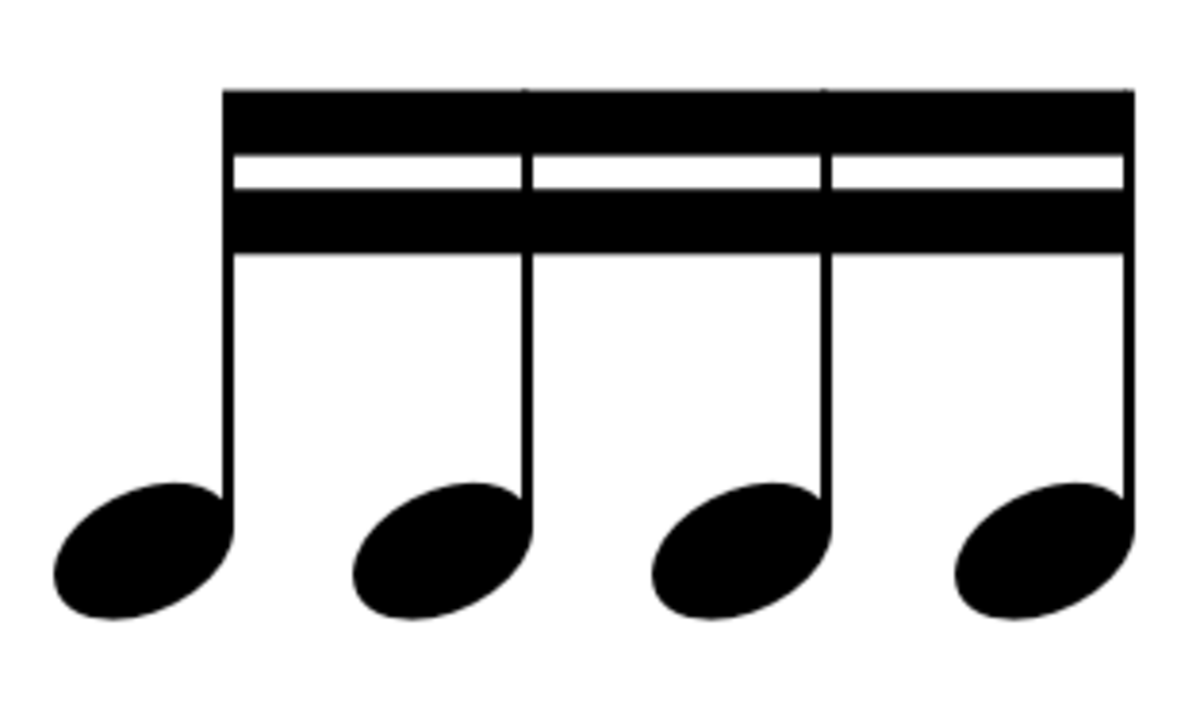 Four sixteenth notes equal one quarter note.