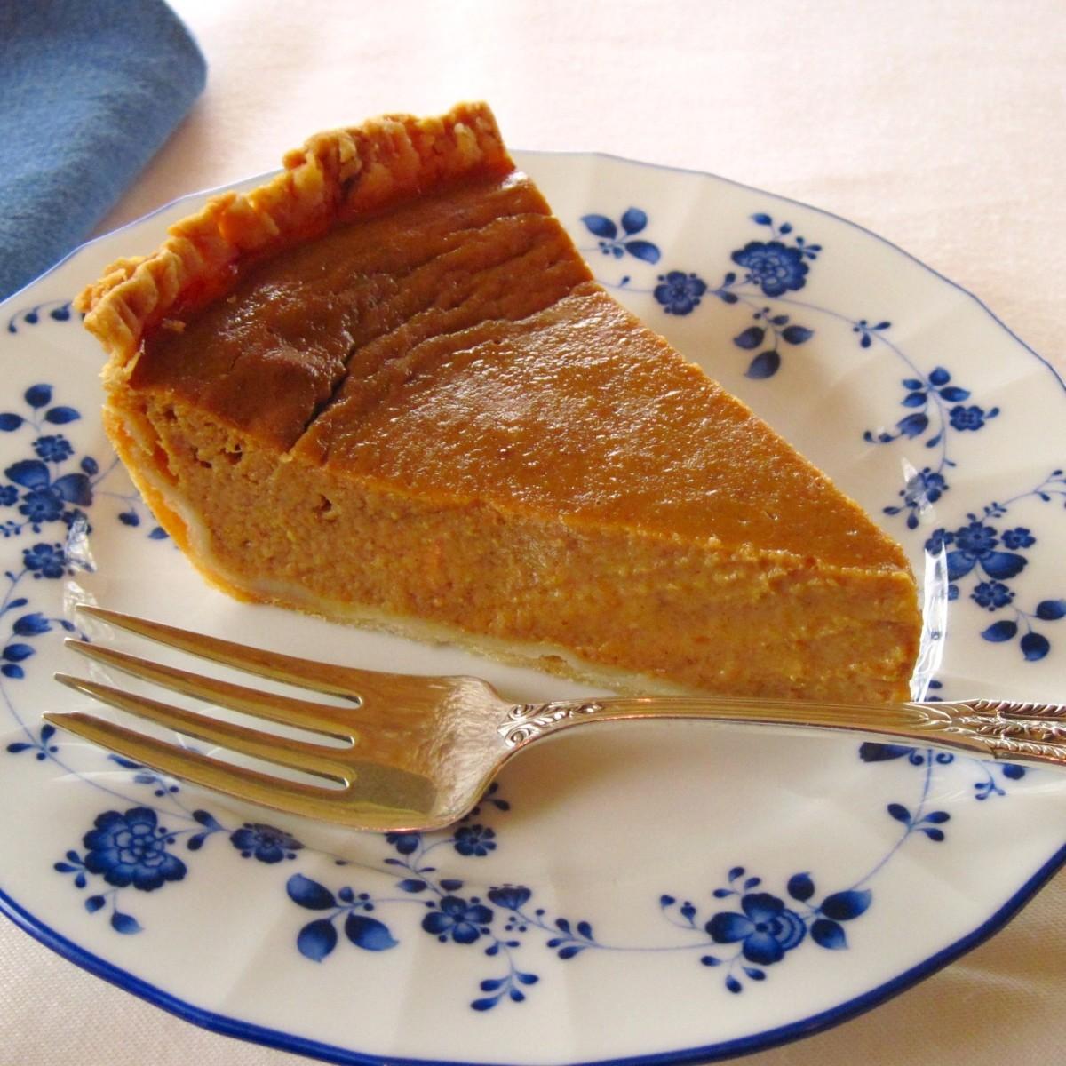 Pumpkin pie has the same rhythm as apple pie.