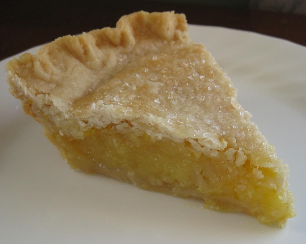 Lemon pie has the same rhythm as apple pie.