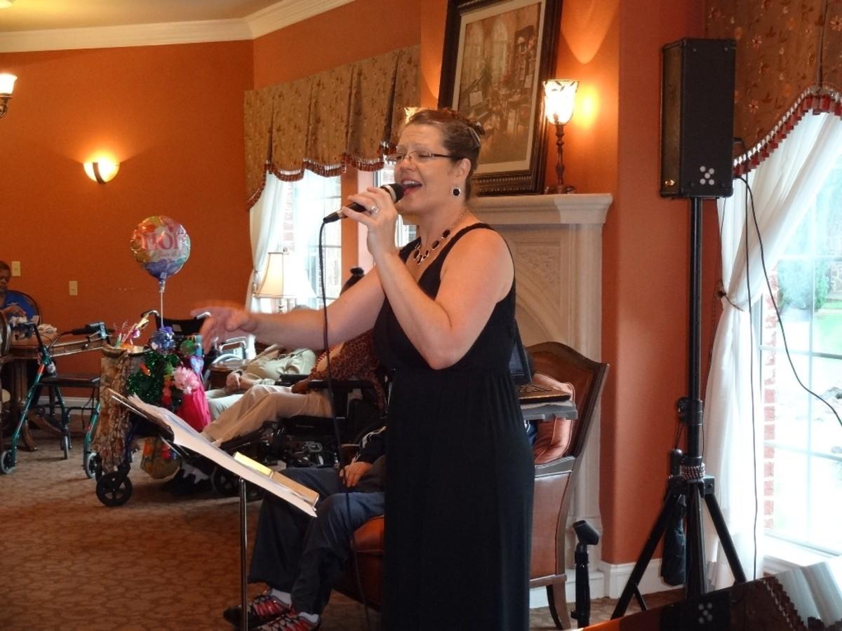 Entertainer, gospel singer, Gigi Burgess.