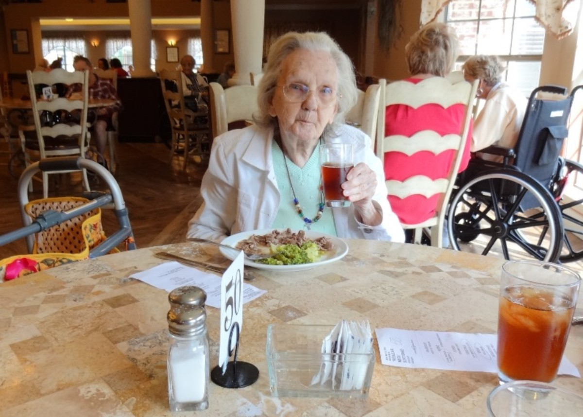Nursing homes usually offer meals to guests at low prices or free.