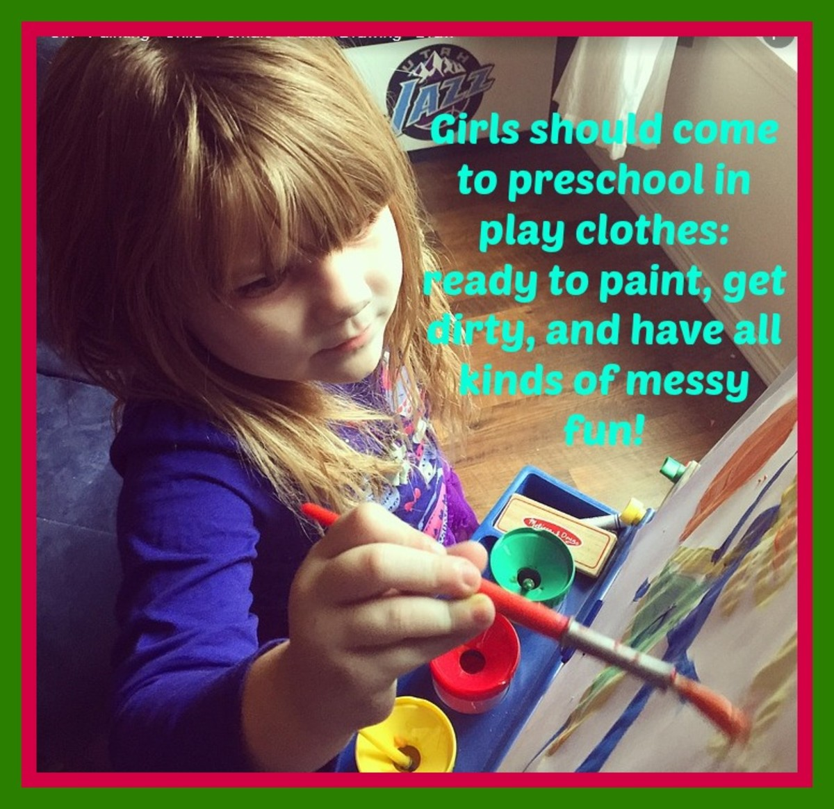 Girls should be doing messy projects at preschool, unencumbered by princess gowns.