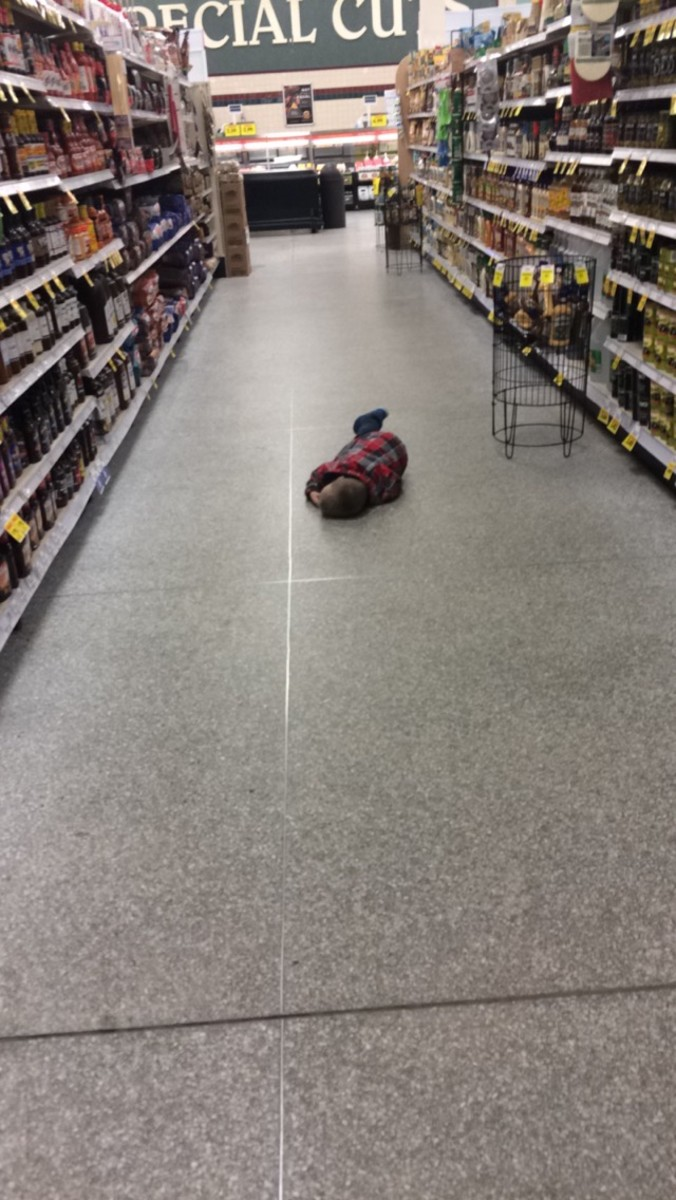 Note to self: Never take a toddler grocery shopping when he hasn't had a nap.  Ever.  You will regret it.