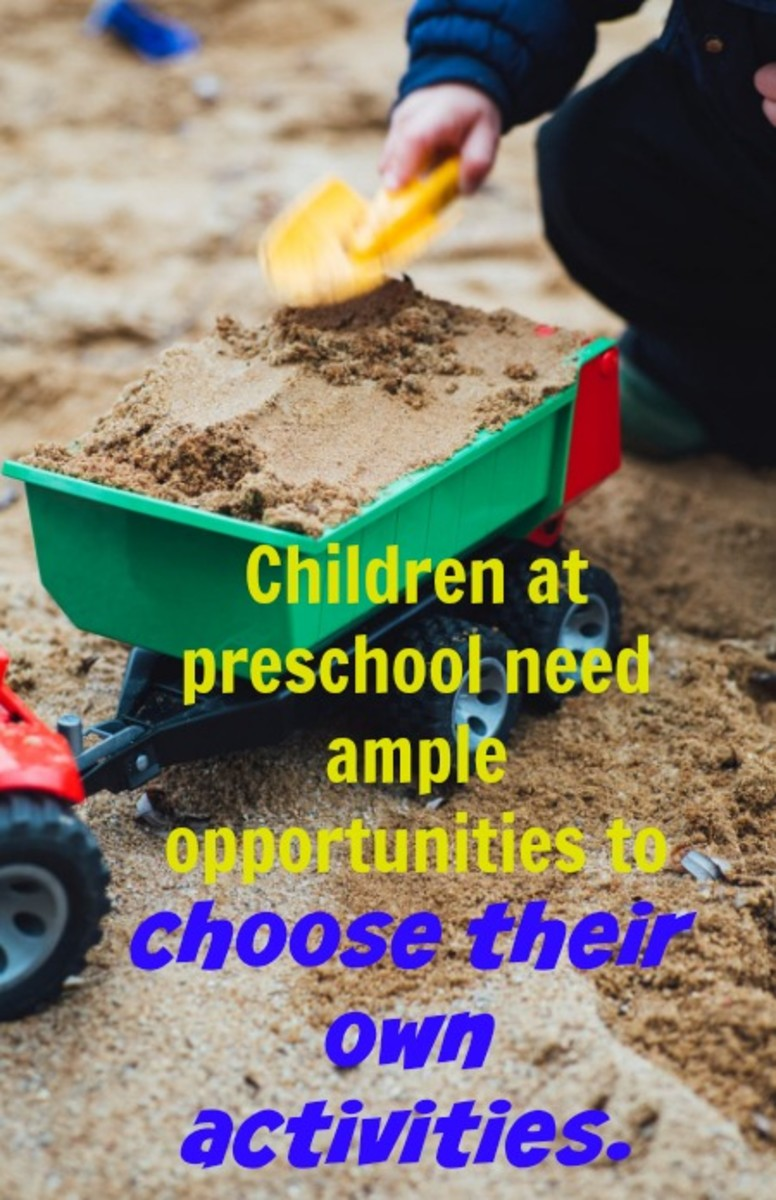 Children need big blocks of time to choose their own activities and explore materials creatively and deeply.