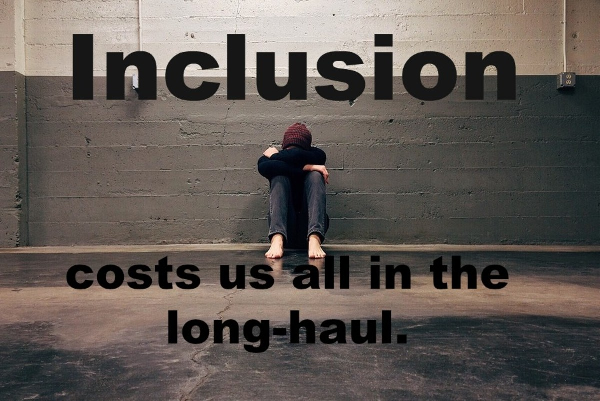 Full inclusion in special education costs us all in the long-haul with higher drop-out rates, more mental illness, and increased homelessness.