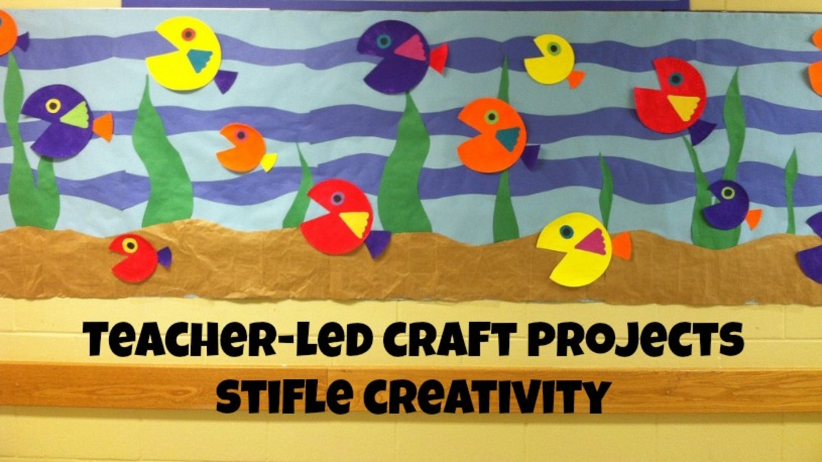 When children just copy a teacher's example, they miss out on art as a creative expression.