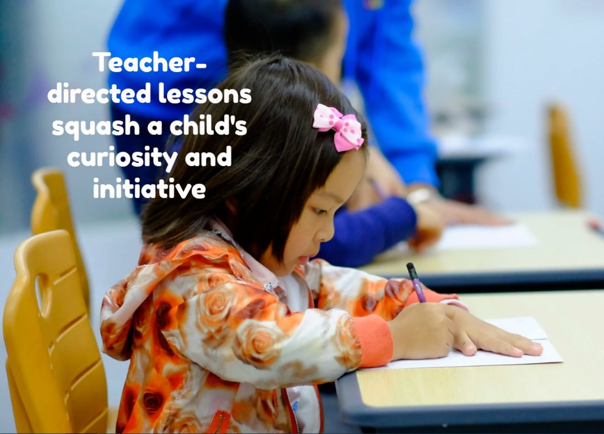 The push to prepare children for kindergarten has led to an increase in teacher-directed lessons.