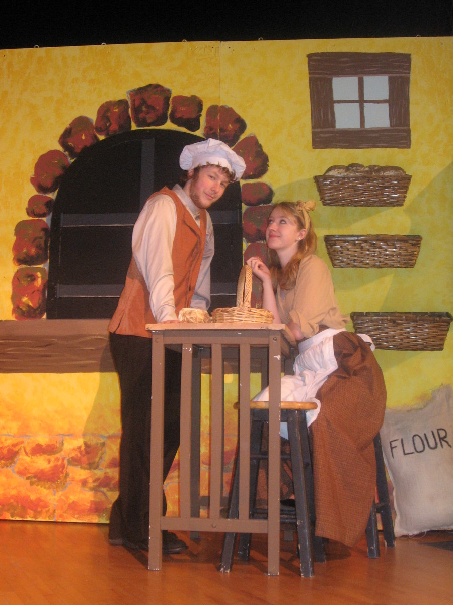 Nathan Rothstein & Allison Hoffman in THHS's production of Into the Woods.  Go see the school play for a fun family night out!