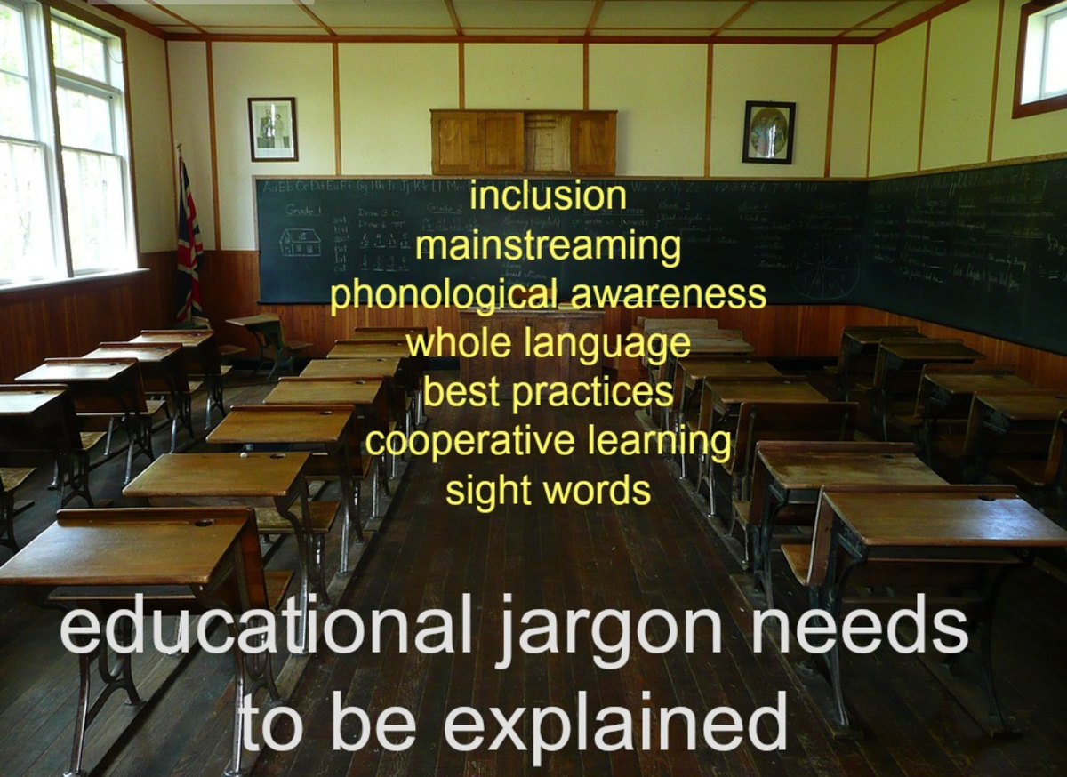 Parents shouldn't let teachers use jargon without explaining it.