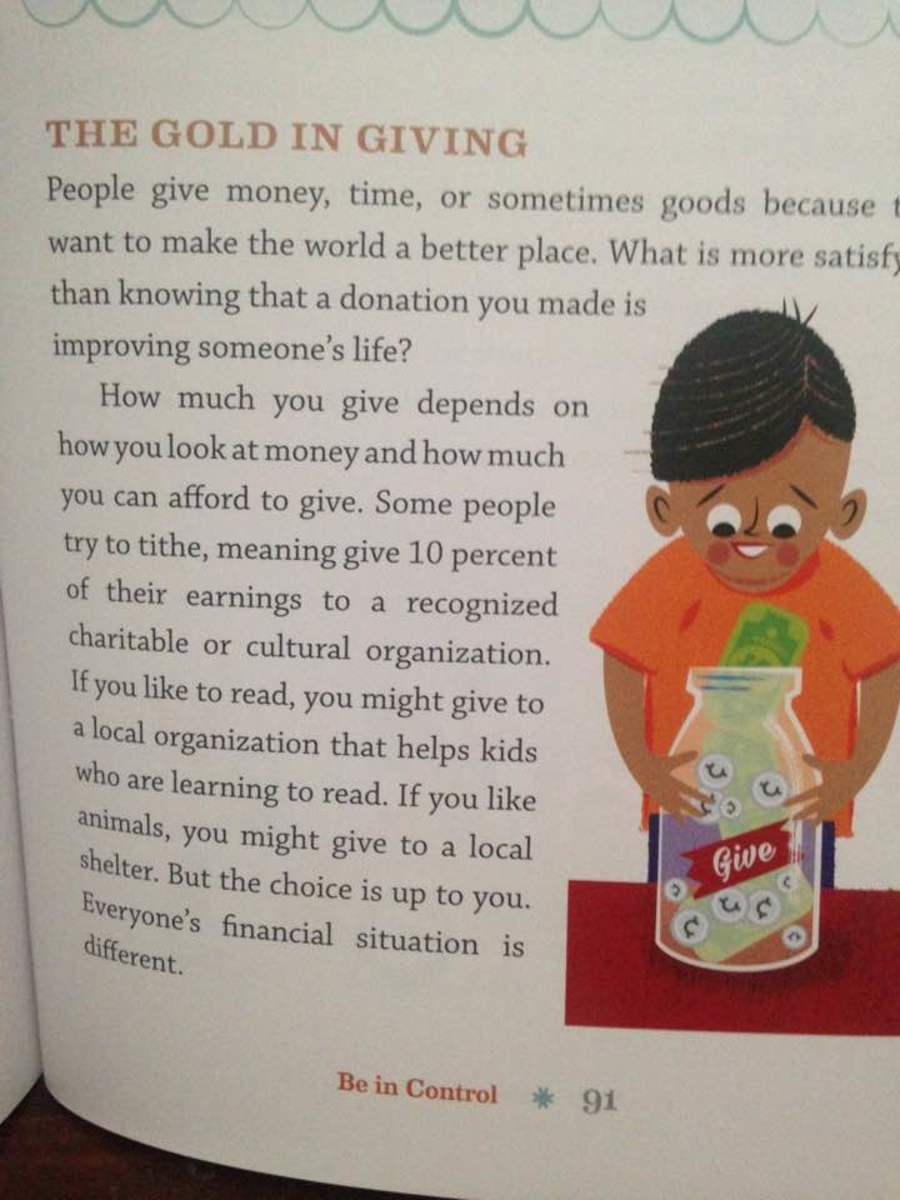 Giving is a part of money vocabulary