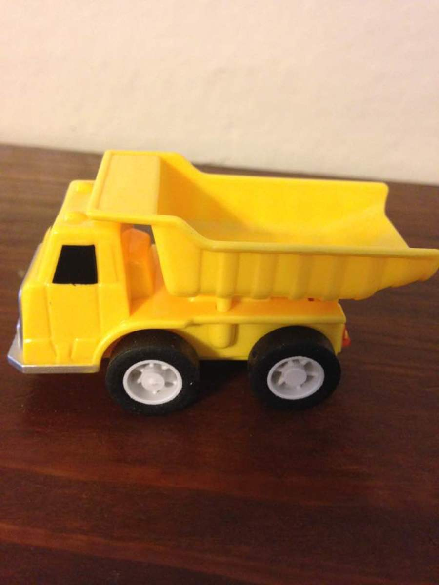 Example of small construction vehicles for block play