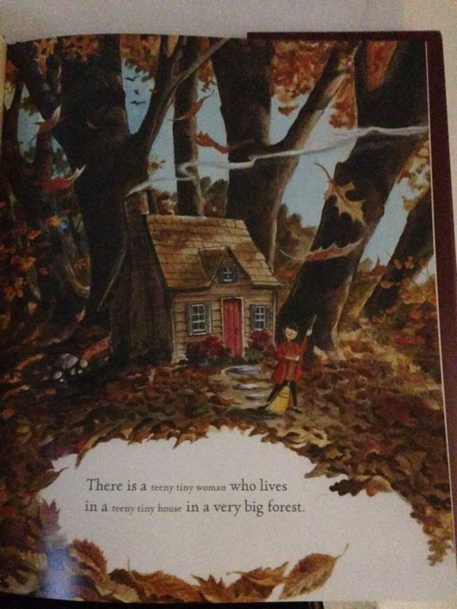 Teeny tiny house in the autumn