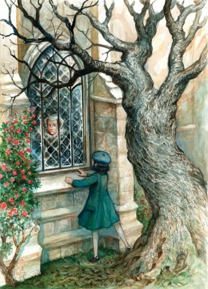 Penelope sees Mary Queen of Scots in the window