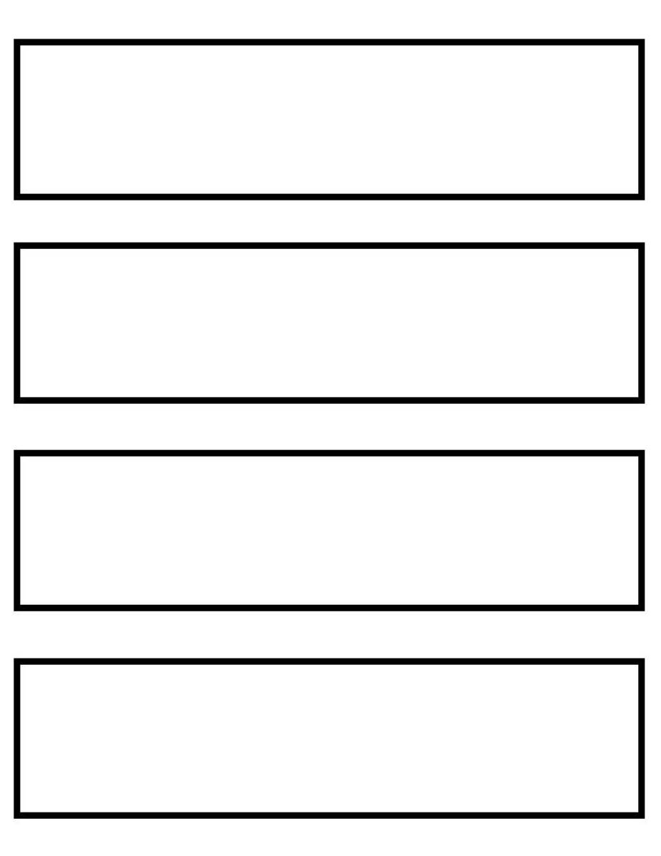 Bookmark template - 4 to a page