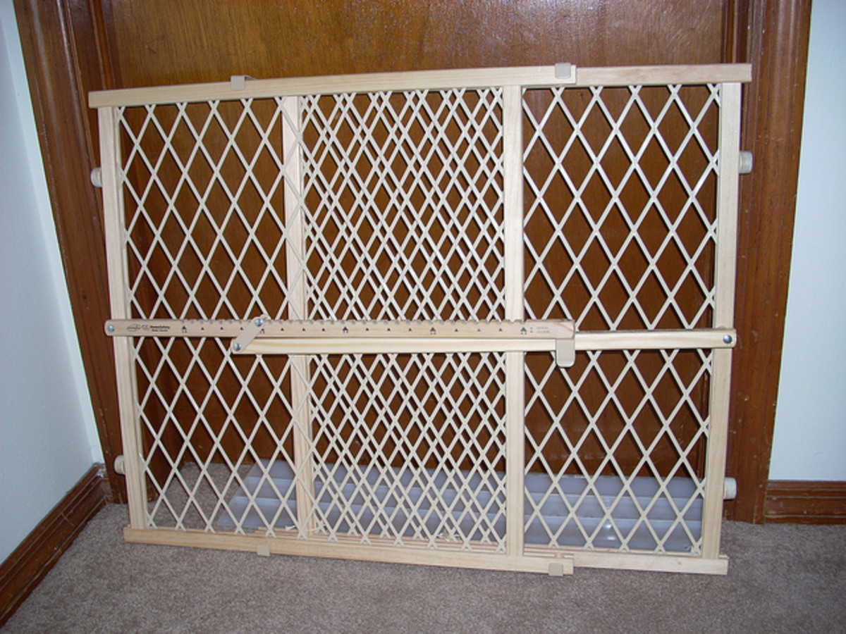 Child safety gates are a wonderful method of keeping the little ones out of a potentially dangerous room like the kitchen.