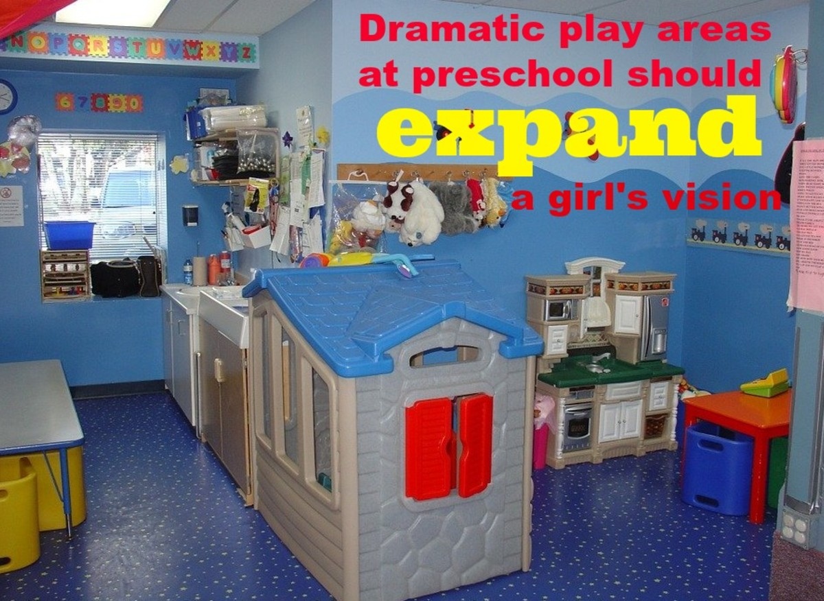 By changing up the dramatic play area, teachers stimulate children's imaginations and let them experience new professions.
