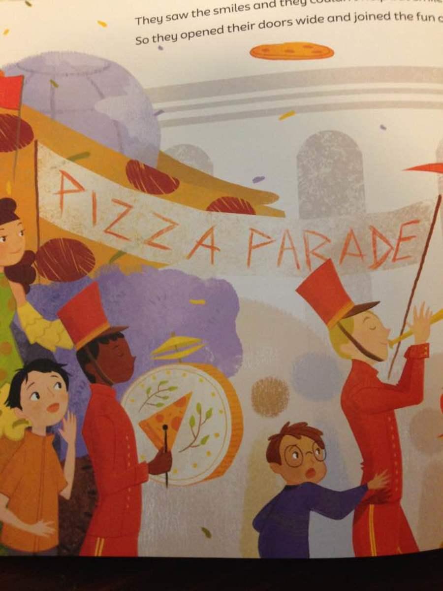 Pizza parade celebrates conflict resolution iin World Pizza
