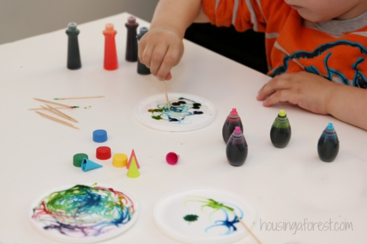 A cool twist on finger painting!