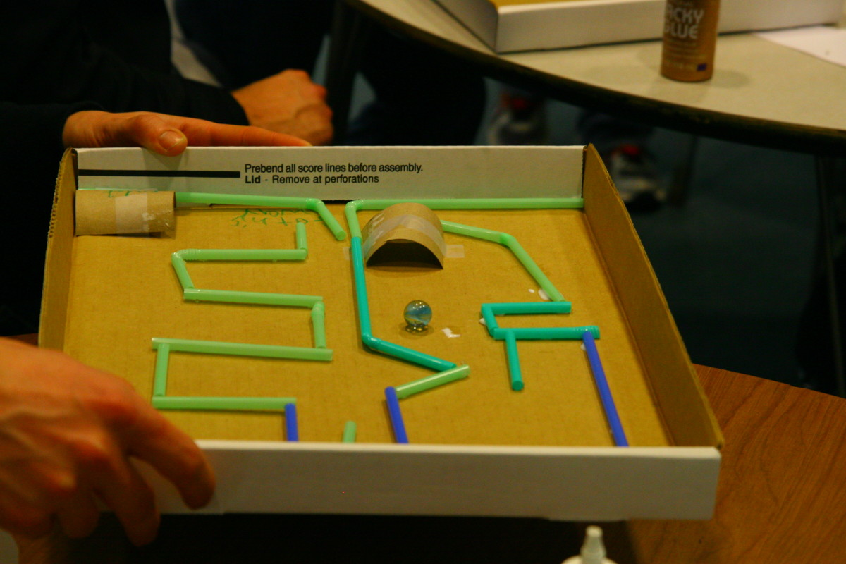 Plan and create a marble maze!