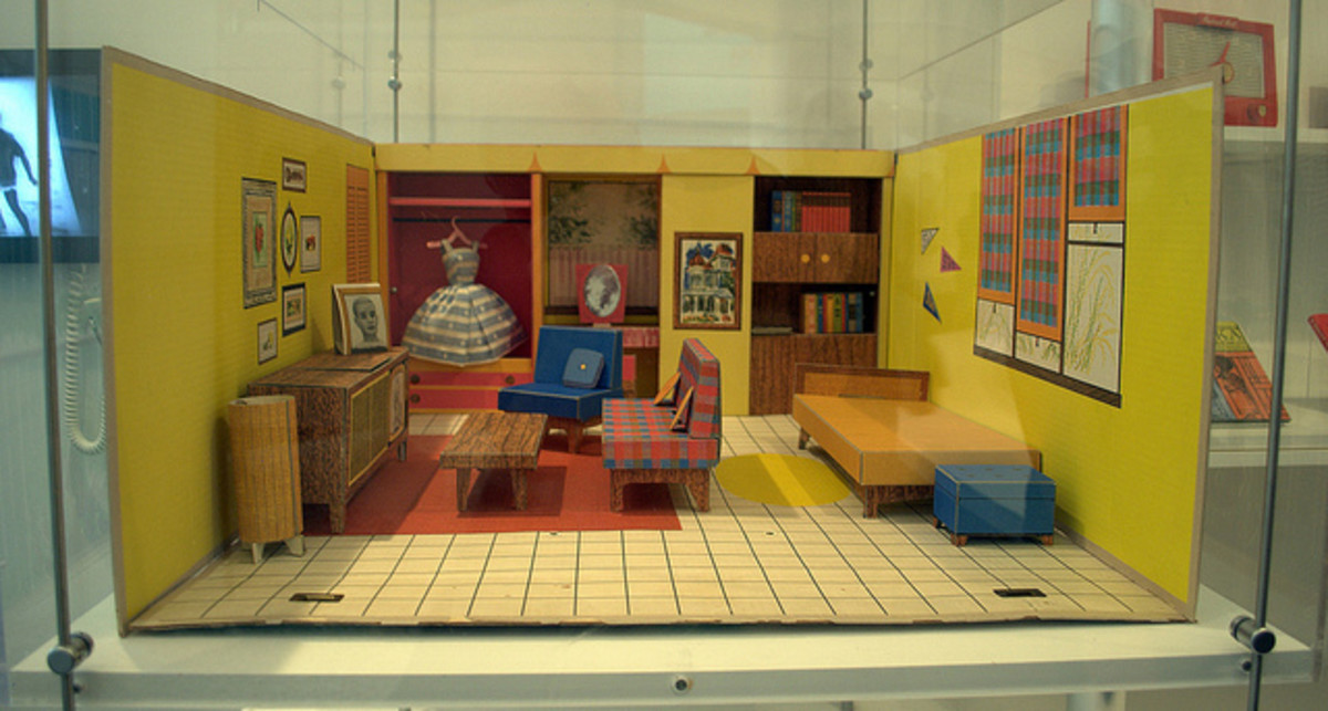 One of the first Barbie Dreamhouses c. 1962.