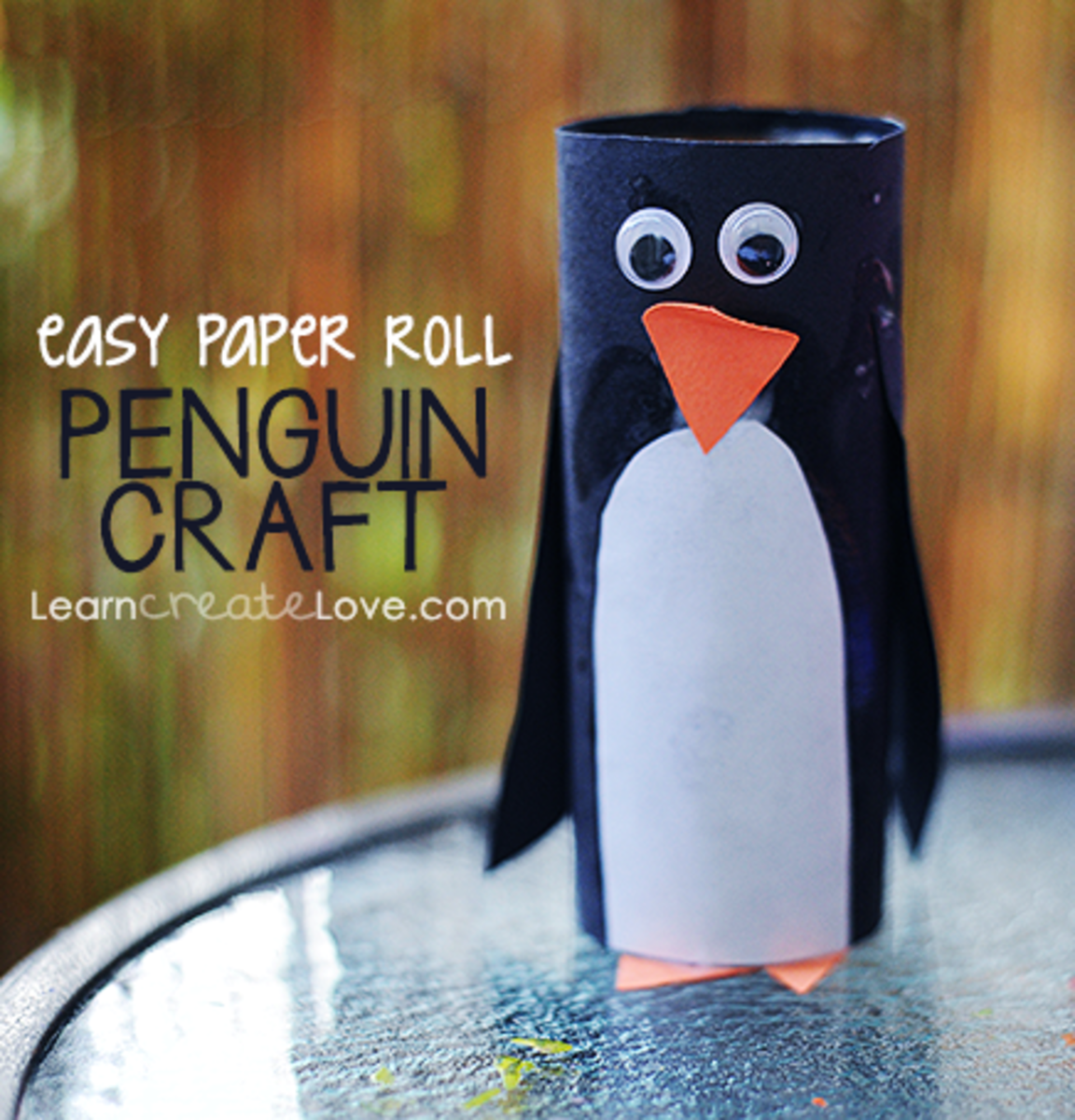 Make a Penguin craft using a craft cardboard roll and some paper...add googly eyes