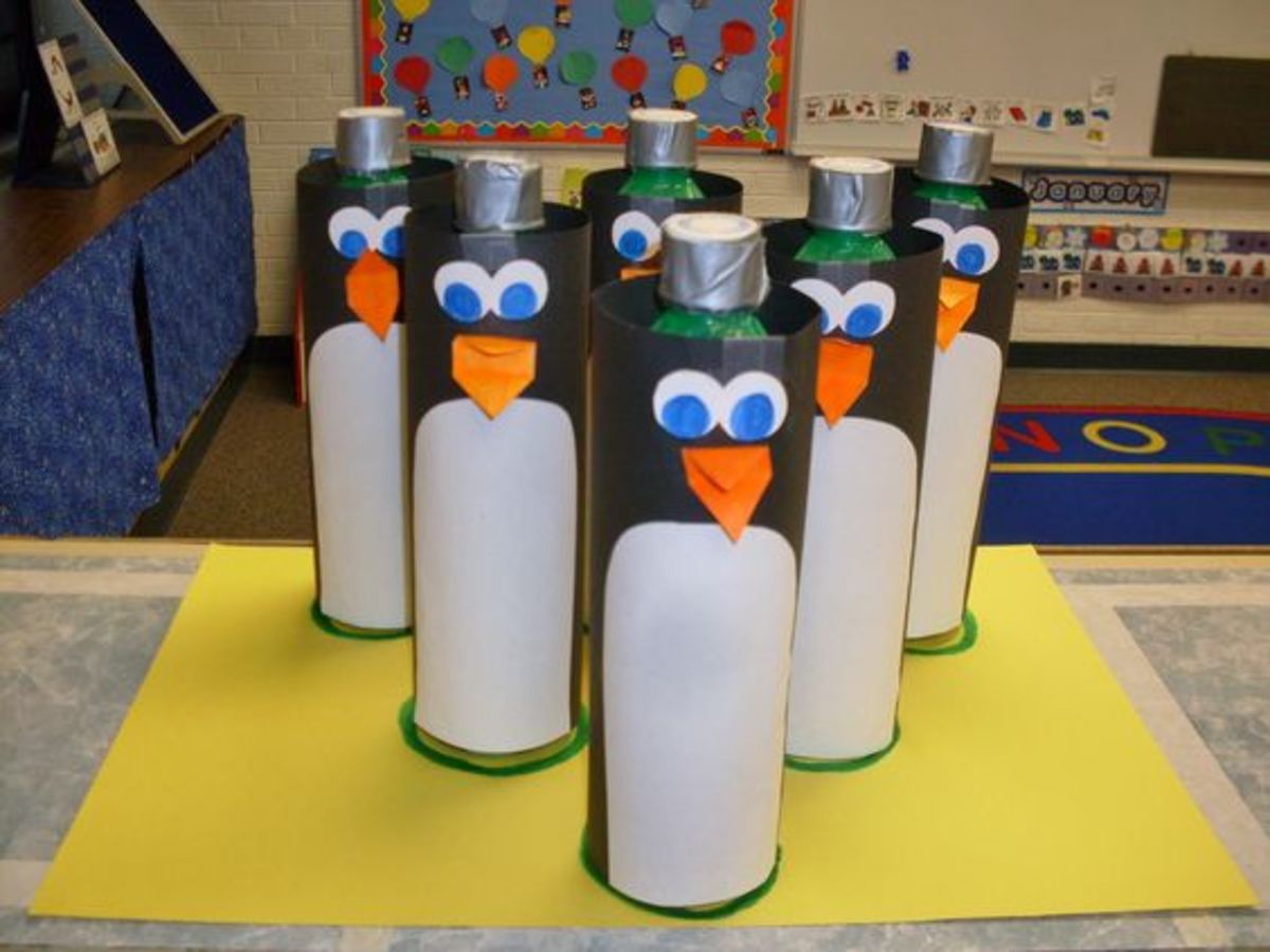 Make your own Penguin bowling game, it's easy and cheap to have fun