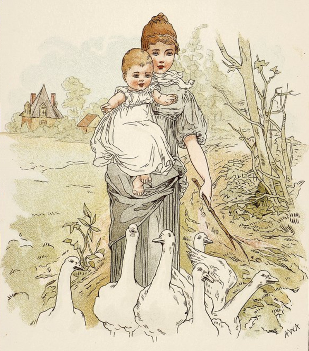 Illustration from 1890 Baby's Annual Pictures and Stories for Little People