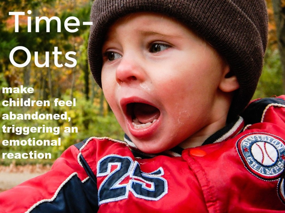 Time-outs can quickly escalate a situation and make children react with cries, screams, and defiance.