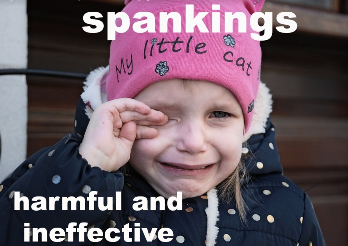 Spankings are still a common form of discipline in the United States but are banned in Sweden.