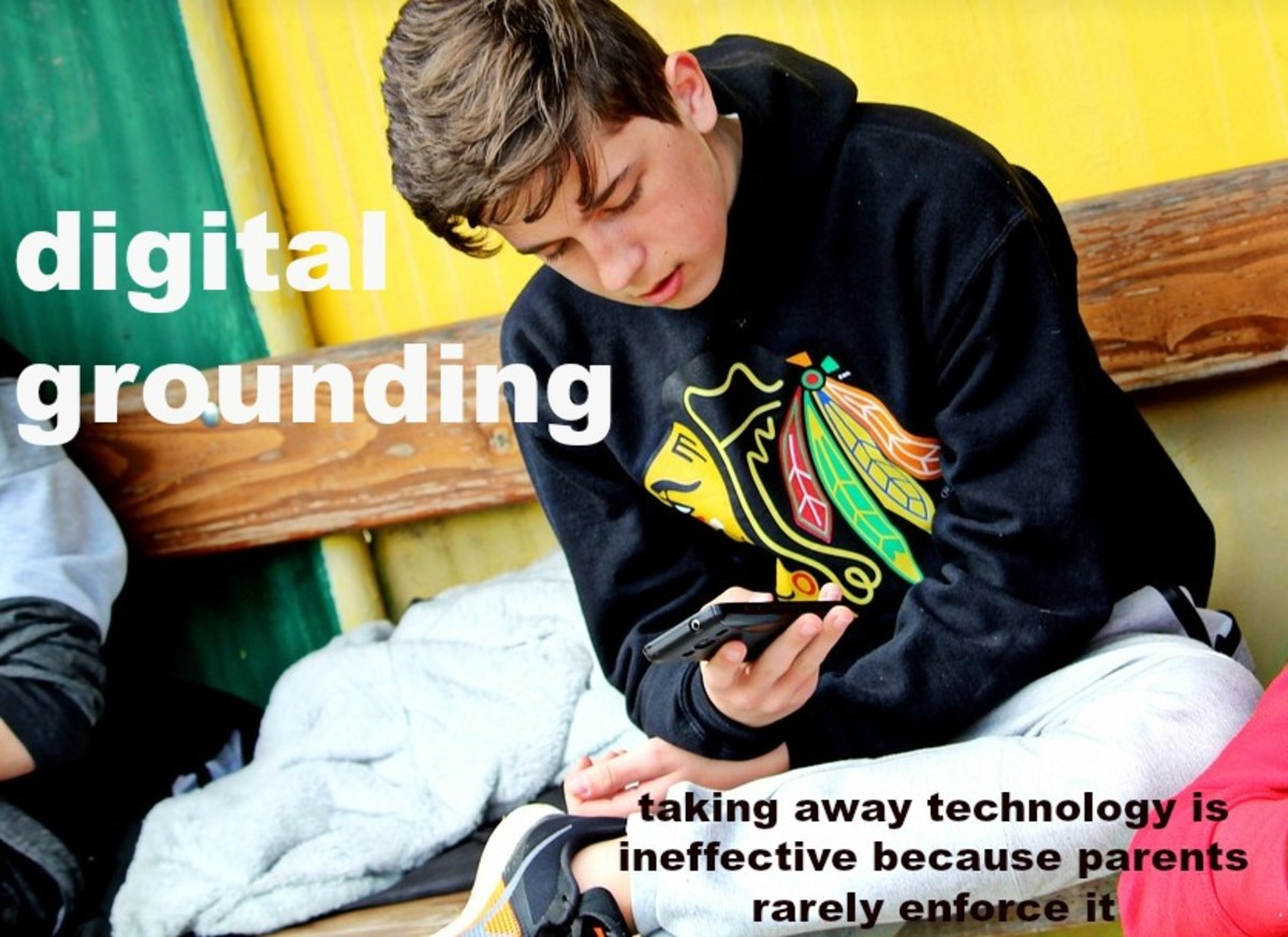 It's hard for parents to follow through with digital groundings, especially with older kids.