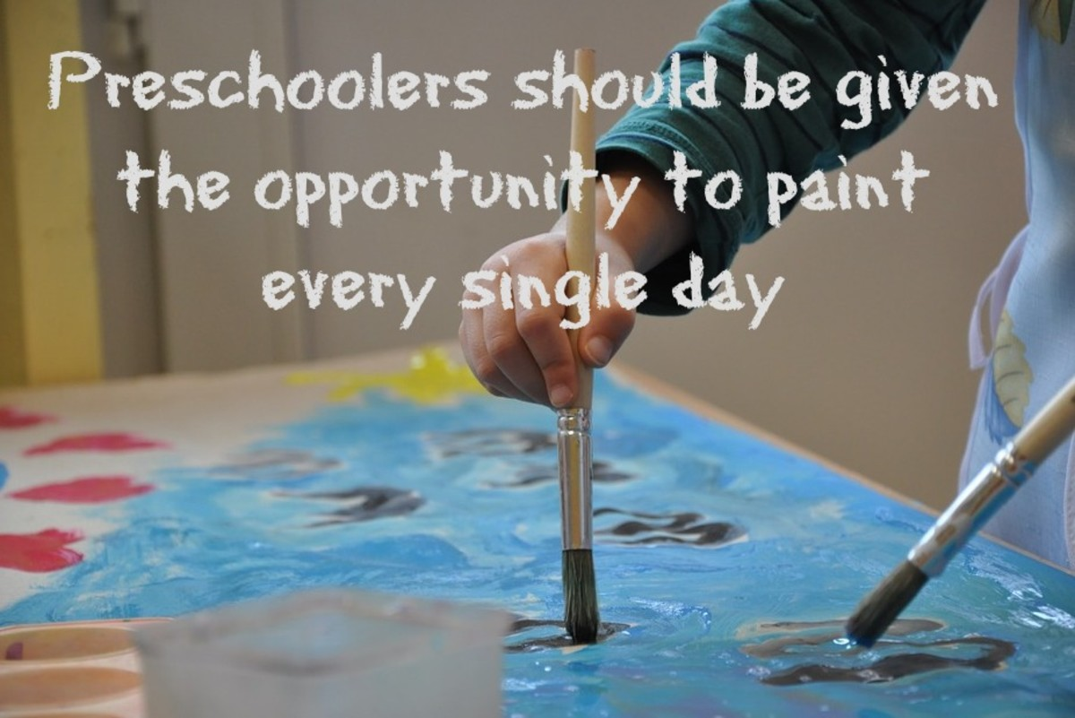 Painting is open-ended art at its best because it lets kids express themselves.