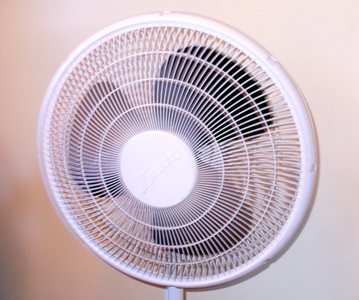 A fan allows students to experience air resistance, also known as drag.