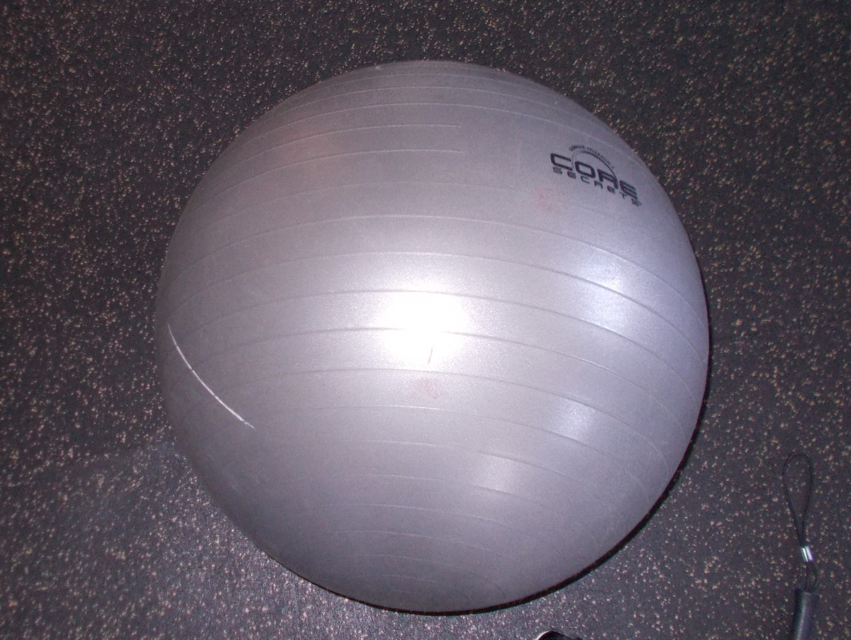 Any type of ball that will bounce can be used for this lesson. Elementary students really enjoy using a large yoga ball. .