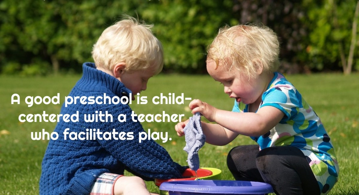 Preschoolers learn best by doing and by making their own discoveries.