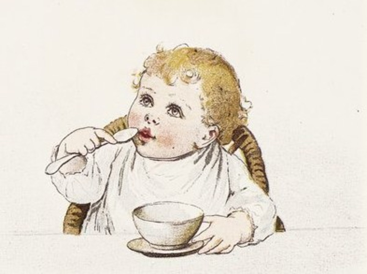 Illustration from Ida Waugh 'Mammy's Baby' from 1890
