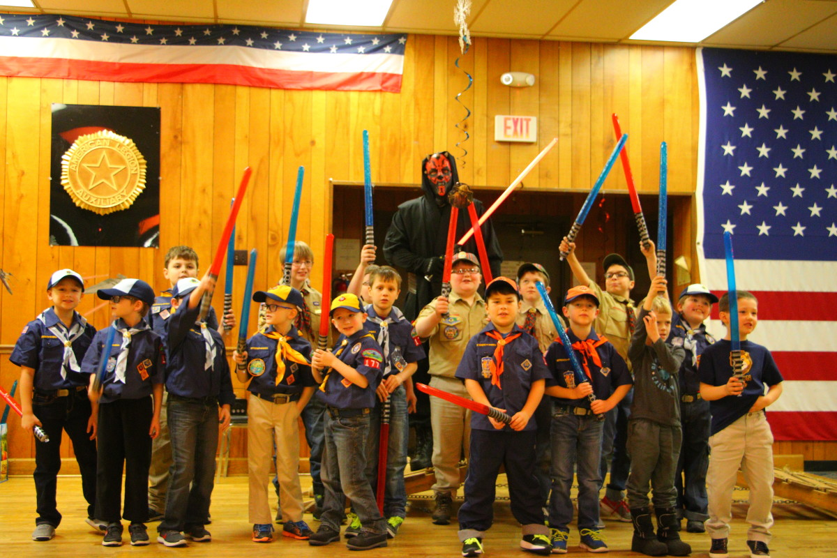 After the cub scouts demonstrated their use of the Force, Darth Maul wanted to join the pack.