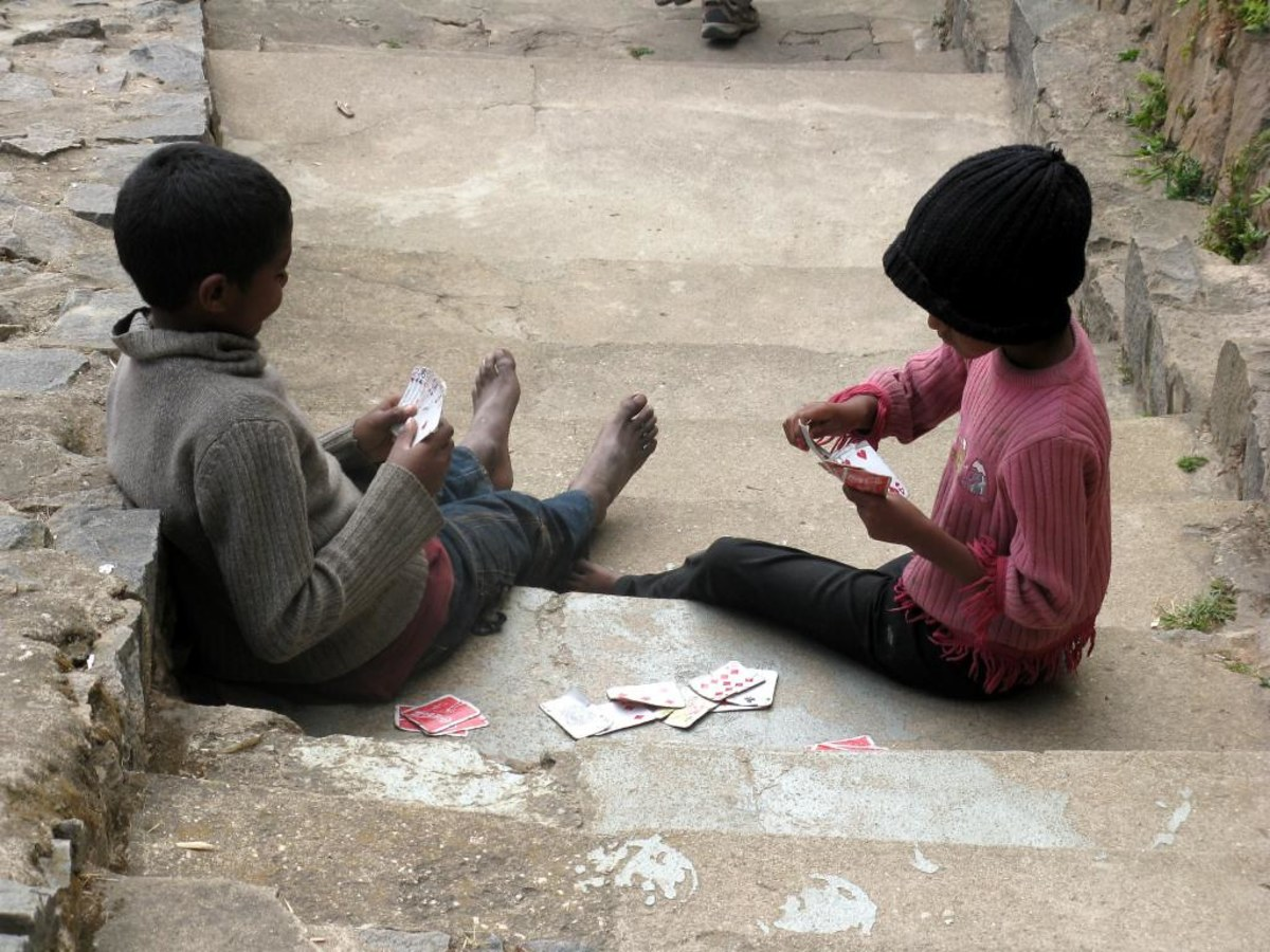 The portability of card games means that you can play them anywhere, even outside.