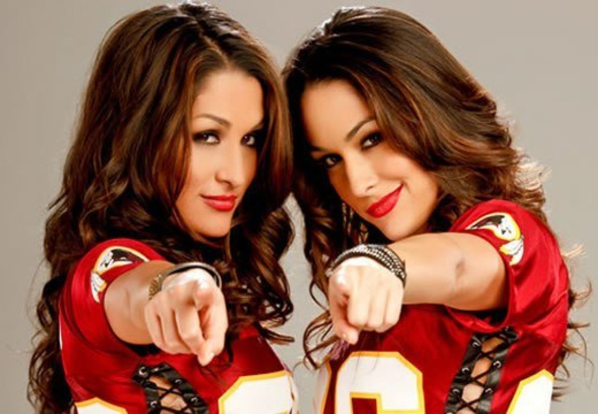Twins Niki and Brie Bella, professional wrestlers