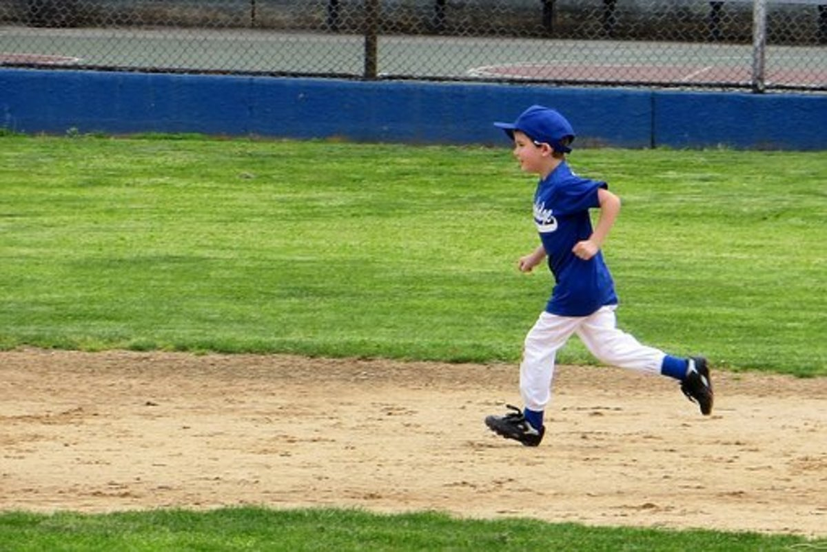 Kids have fun running bases