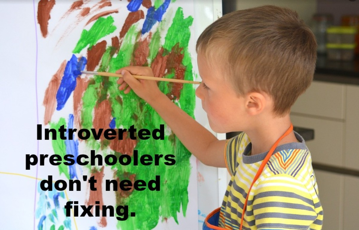 Parenting introverted preschoolers means celebrating who they are and not trying to change them.