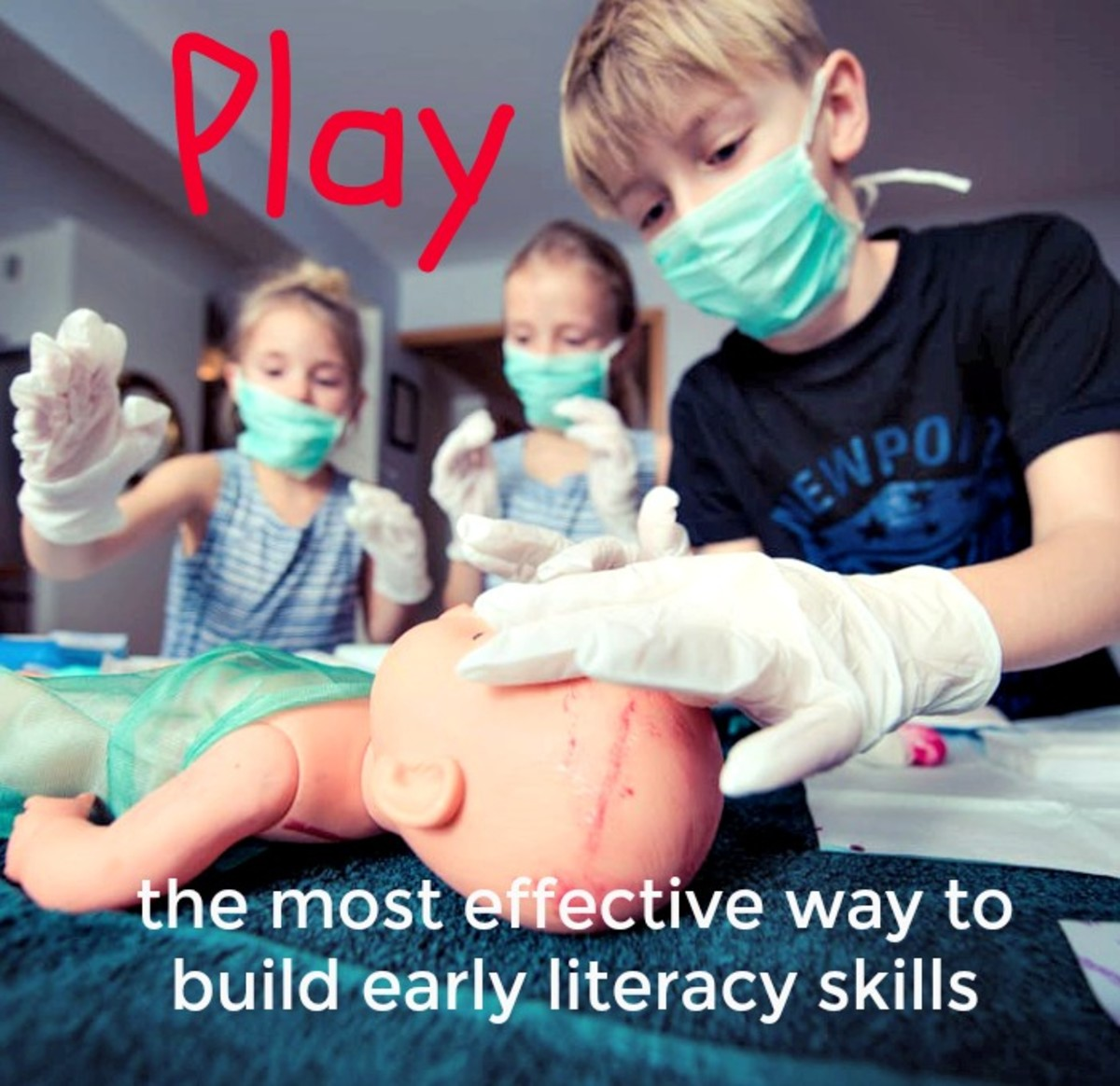 Parents want their kids to have pre-reading skills, but few realize that play is the best way to accomplish that.