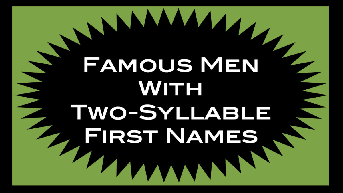 A list of famous men with two-syllable first names.