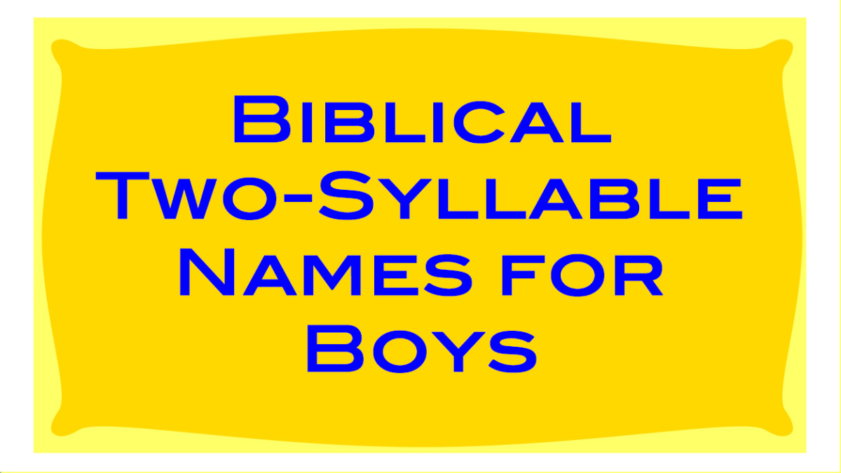 List of biblical two-syllable names for boys, and their meanings